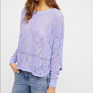 New Free People Not Cold in This Top Lace Shirt
